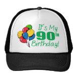 Es mi 90.o cumpleaños (los globos) gorros