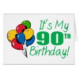 Es mi 90.o cumpleaños (los globos) tarjeta