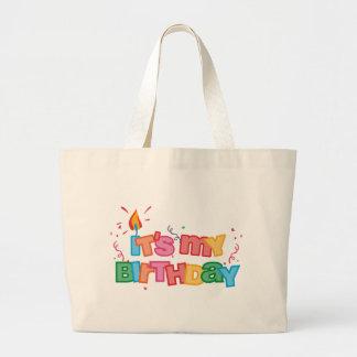 Es mi bolso de las letras del cumpleaños bolsa