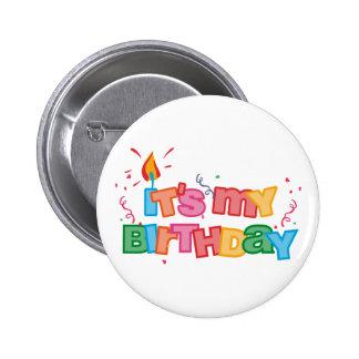 Es mi botón de las letras del cumpleaños pins