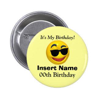 Es mi botón del cumpleaños pin redondo de 2 pulgadas
