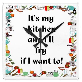 Es mi cocina…. reloj cuadrado