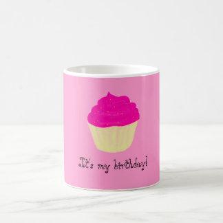 ¡Es mi cumpleaños! /Cupcake Taza Básica Blanca