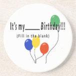 ¡Es mi cumpleaños del __! Posavasos Manualidades