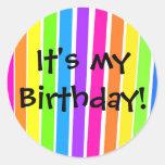 ¡Es mi cumpleaños! Etiqueta Redonda