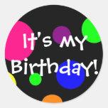 ¡Es mi cumpleaños! Etiquetas Redondas