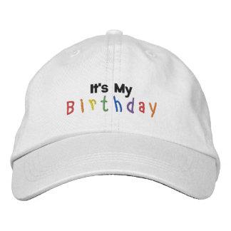 Es mi cumpleaños gorros bordados