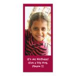 Es mi cumpleaños invitación 10,1 x 23,5 cm
