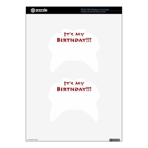 ¡Es mi cumpleaños! Mando Xbox 360 Calcomanía