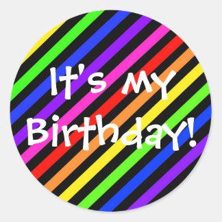 ¡Es mi cumpleaños! Pegatinas Redondas