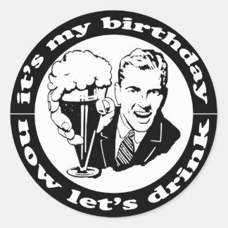 Es mi cumpleaños pegatinas redondas