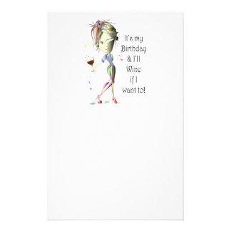 ¡Es mi cumpleaños y Wine si quiero a! Papeleria De Diseño