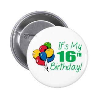 Es mi décimosexto cumpleaños (los globos) pin redondo 5 cm