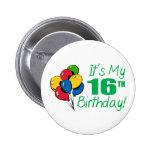 Es mi décimosexto cumpleaños (los globos) pins