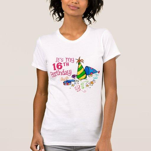 Es mi décimosexto cumpleaños (los gorras del fiest camiseta