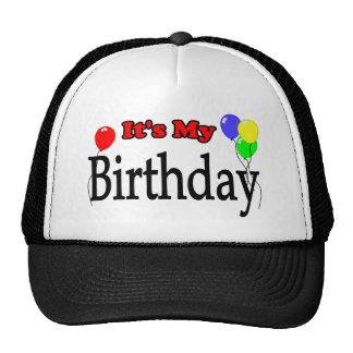 Es mi gorra del cumpleaños de los globos del cumpl