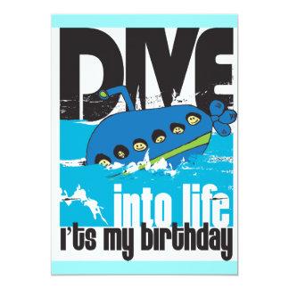 Es mi invitación del submarino del cumpleaños