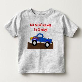 Es mi monster truck del azul del cumpleaños remera