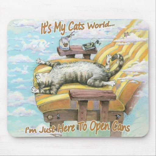 Es mi mundo de los gatos alfombrillas de ratones
