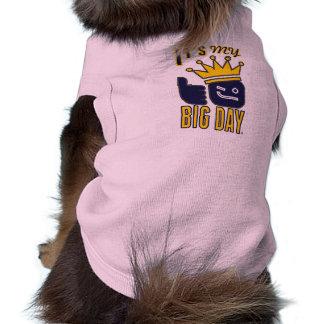 Es mi perrito GRANDE del DÍA proveído de costillas Playera Sin Mangas Para Perro