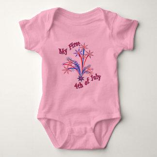 Es mi primer 4to de la camisa del bebé de julio