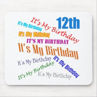 Es mis 12mos regalos de cumpleaños alfombrilla de ratón
