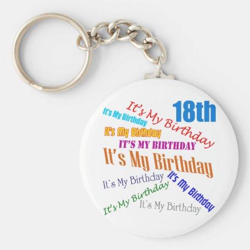 Es mis décimo octavos regalos de cumpleaños llaveros personalizados