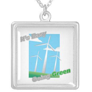 Es molinoes de viento verdes tolerantes joyerias personalizadas