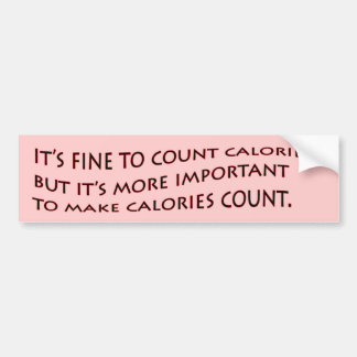 Es muy bien contar calorías… pegatina para auto