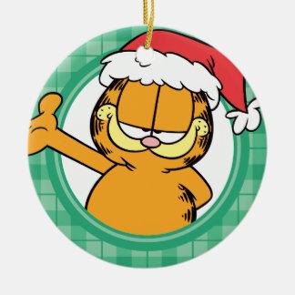 ¡Es navidad! Adorno Navideño Redondo De Cerámica