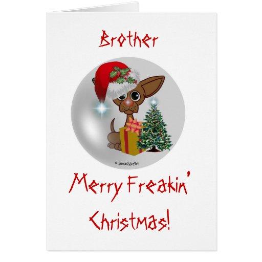 Es navidad/Brother de Freakin de un perro ratonil Felicitaciones
