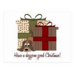 Es navidad de Basset Hound Postal