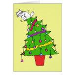 Es navidad otra vez, caída adentro allí tarjeta de felicitación