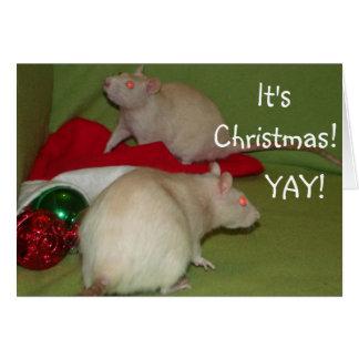 ¡Es navidad! tarjeta