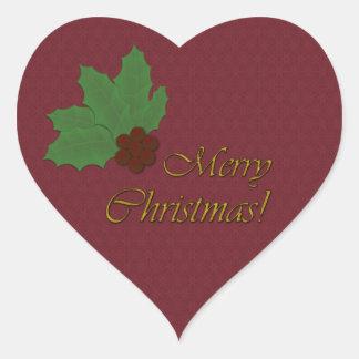 ¡Es navidad ¡Vaya para el Barroco Borgoña Backgr Pegatina