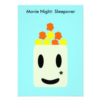 Es noche de película toda la noche Sleepover Invitaciones Personalizada