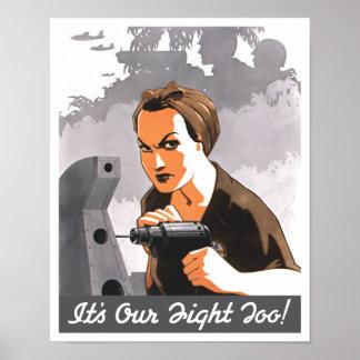 Es nuestra lucha también -- Rosie el remachador Impresiones