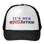 Es nuestra revolución gorros