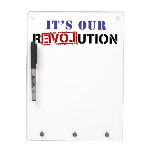 Es nuestra revolución tableros blancos