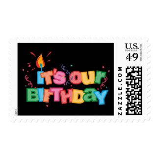 Es nuestras letras del cumpleaños timbre postal