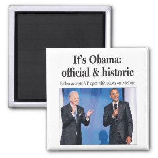 Es Obama: Imán oficial e histórico
