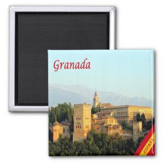 ES - Panorama de España - de Granada Imán Cuadrado