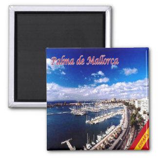 ES - Panorama de España - de Palma de Mallorca Imán Cuadrado