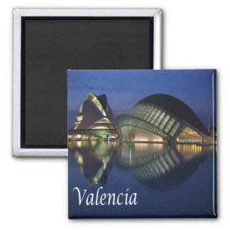 ES - Panorama de España - de Valencia Imán Cuadrado