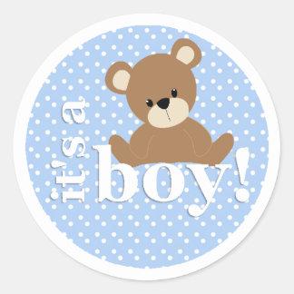 Es pegatina del oso de peluche del muchacho