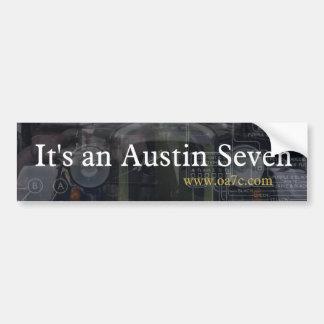 Es pegatina para el parachoques de Austin siete Pegatina Para Auto