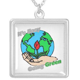 Es planeta verde tolerante colgantes personalizados