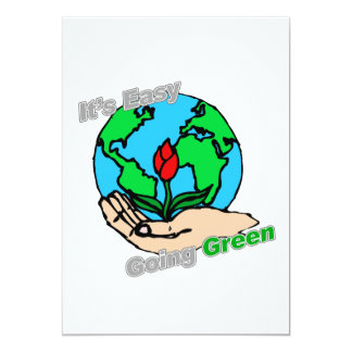 """Es planeta verde tolerante invitación 5"""" x 7"""""""