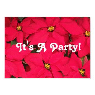Es Poinsettias de un fiesta Invitación 12,7 X 17,8 Cm