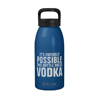 Es posible esto es botella de agua de la vodka